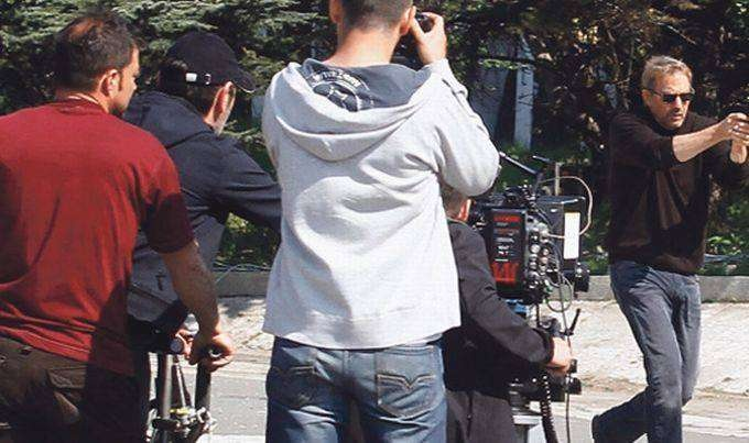 Кевин Костнер на съёмках в Белграде