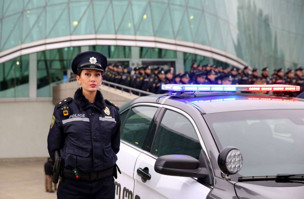В полиции Грузии служит очень много женщин