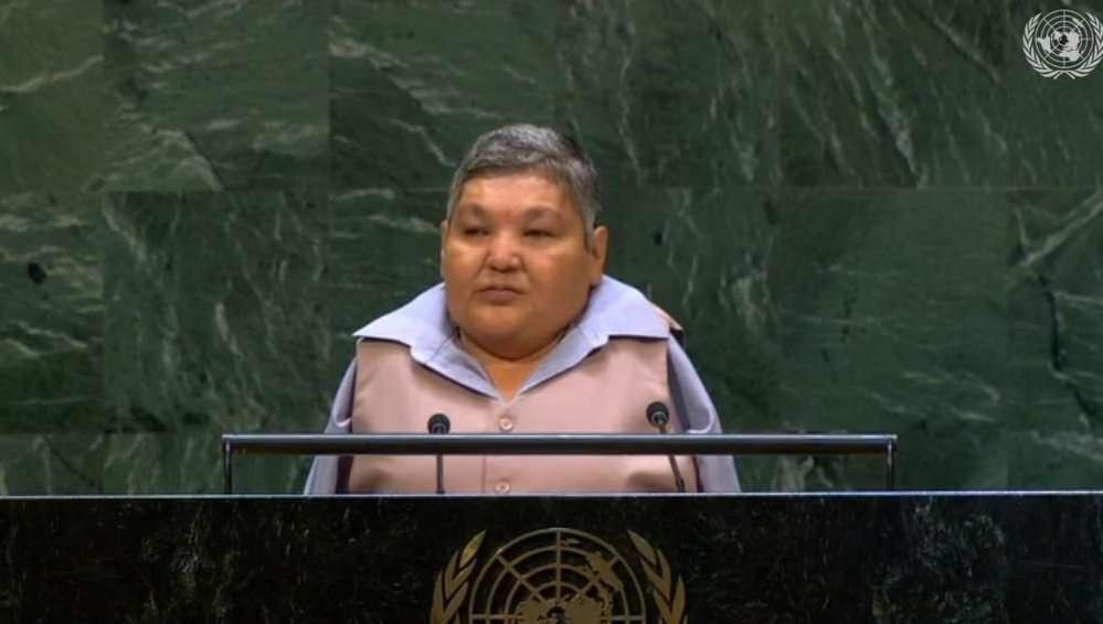 Карипбек Куюков на заседании Ганассамблеи ООН 6 сентября 2018 года