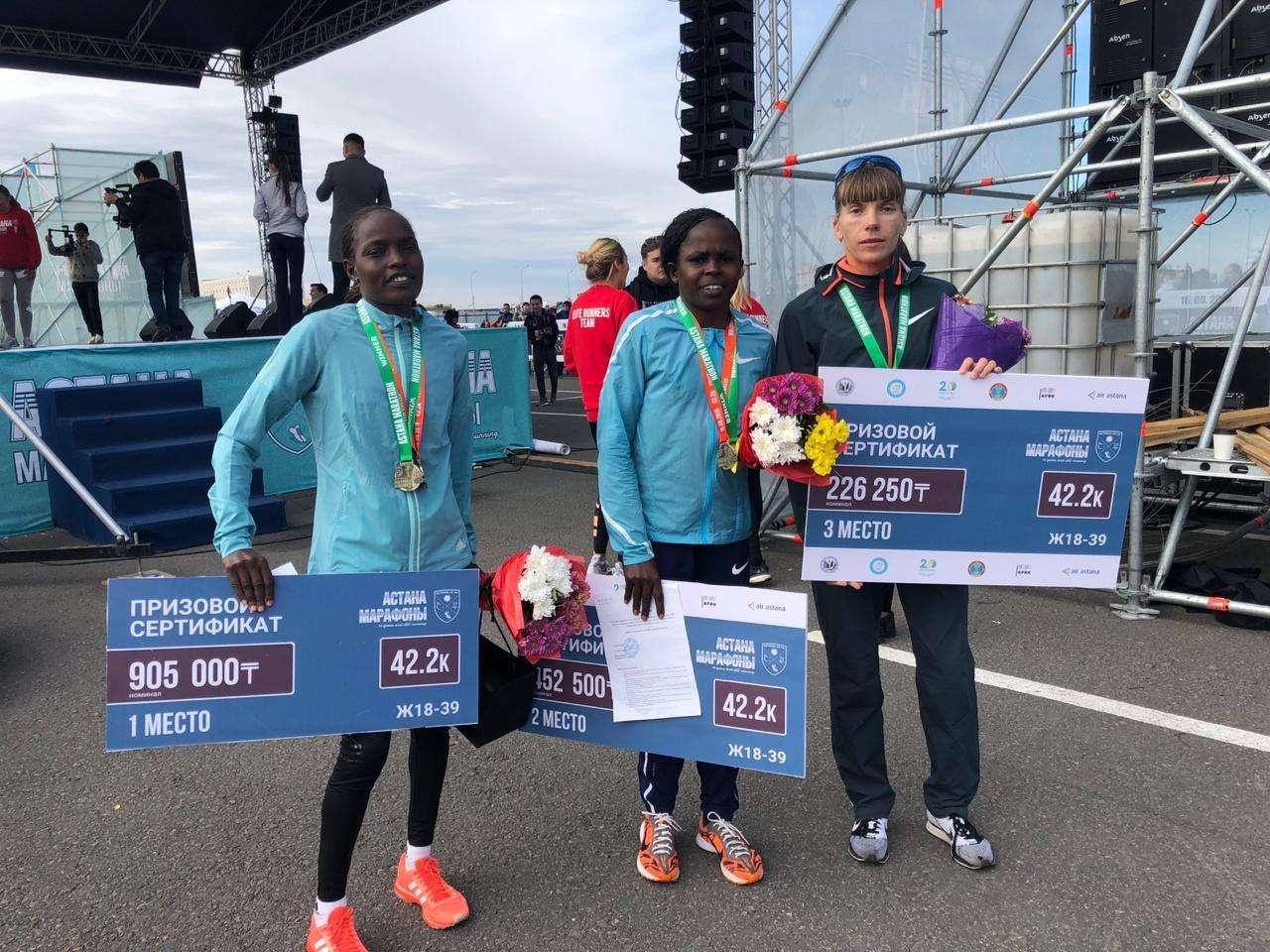 Бегуньи из Кении финишировали первыми