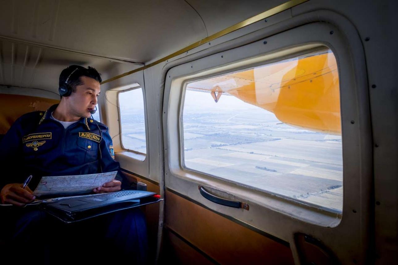 Лётчик-наблюдатель Бекзат Байталов