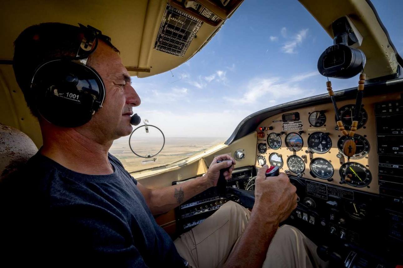 Пилот компании Aeroprakt.kz Олег Корчагин