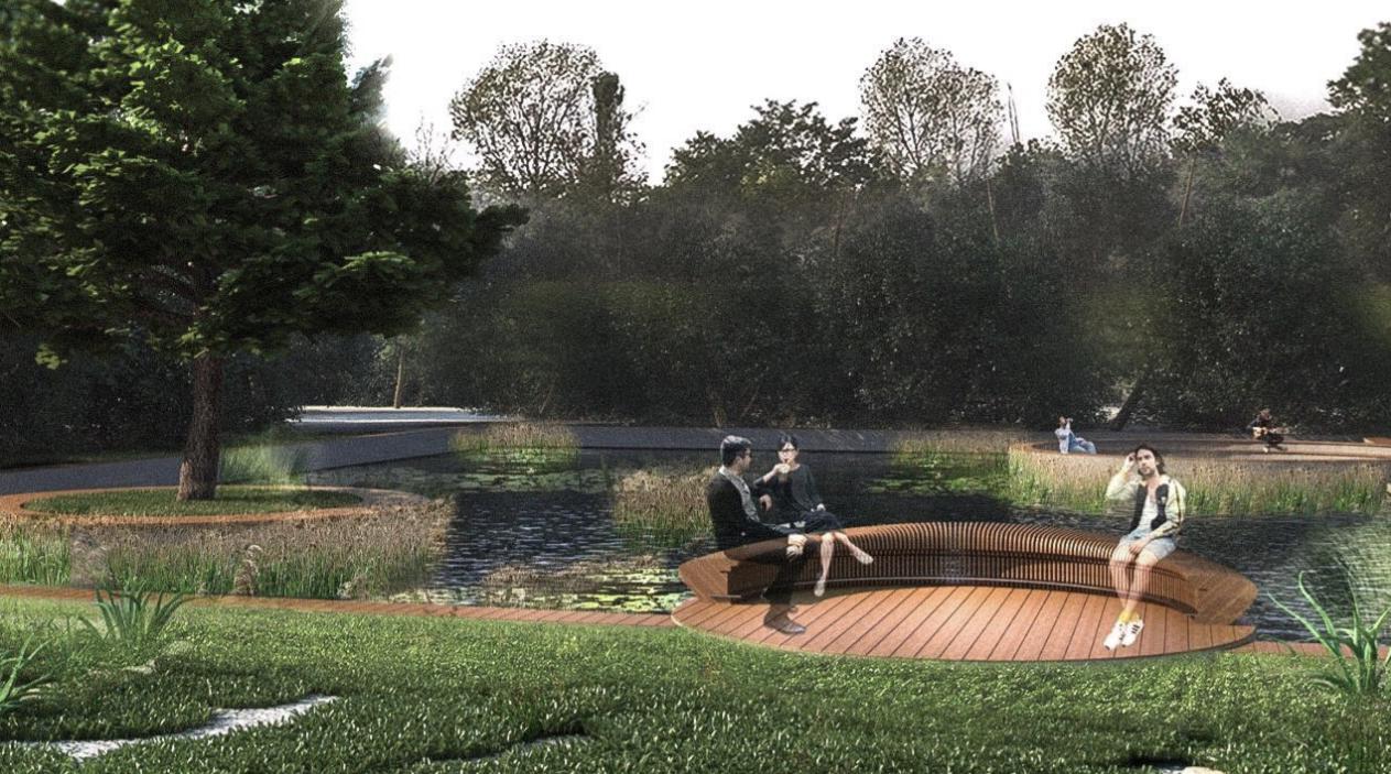 Эскизы проекта по реконструкции Ботанического сада