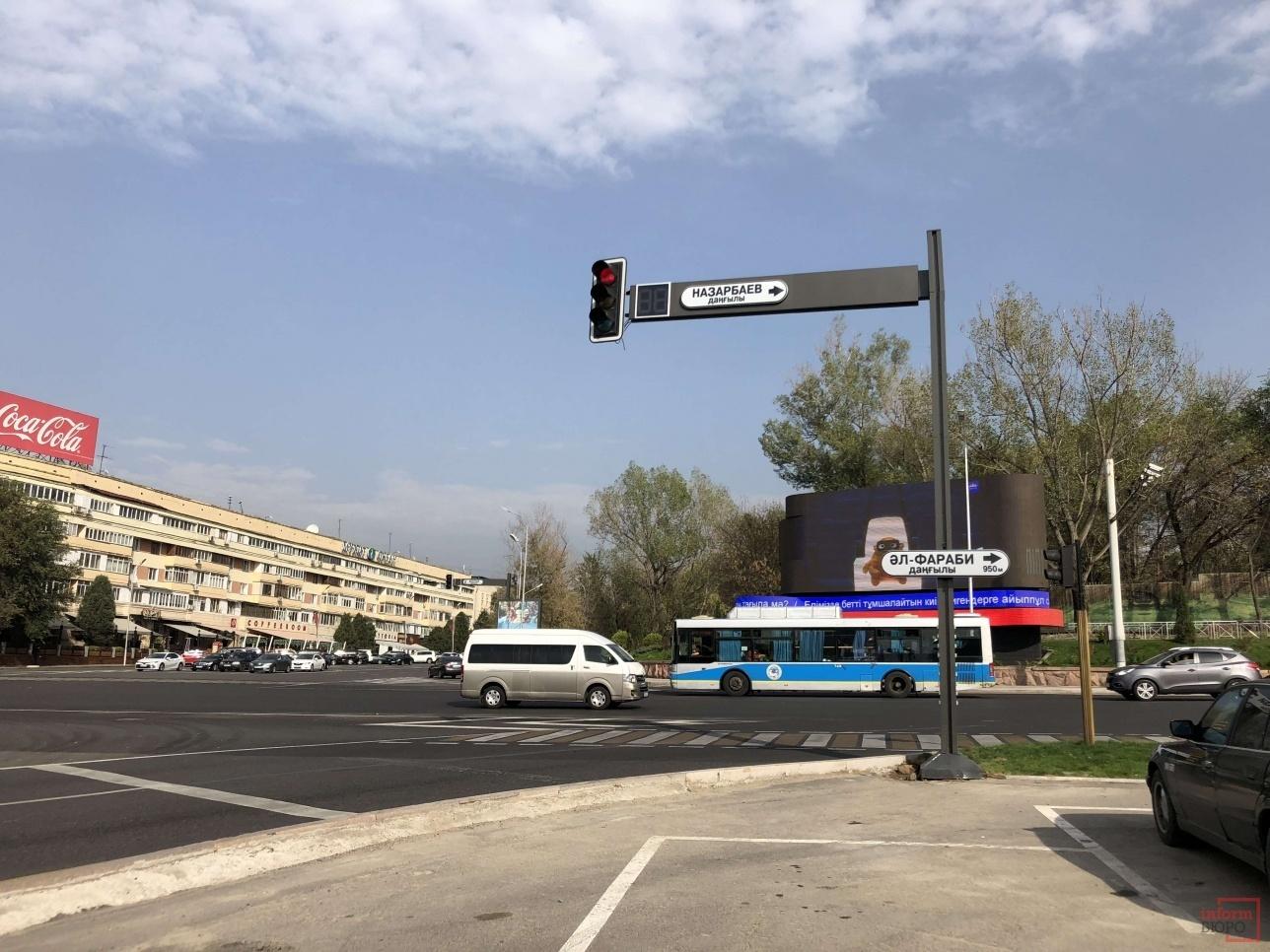 Перекрёсток проспекта Назарбаева и улицы Сатпаева