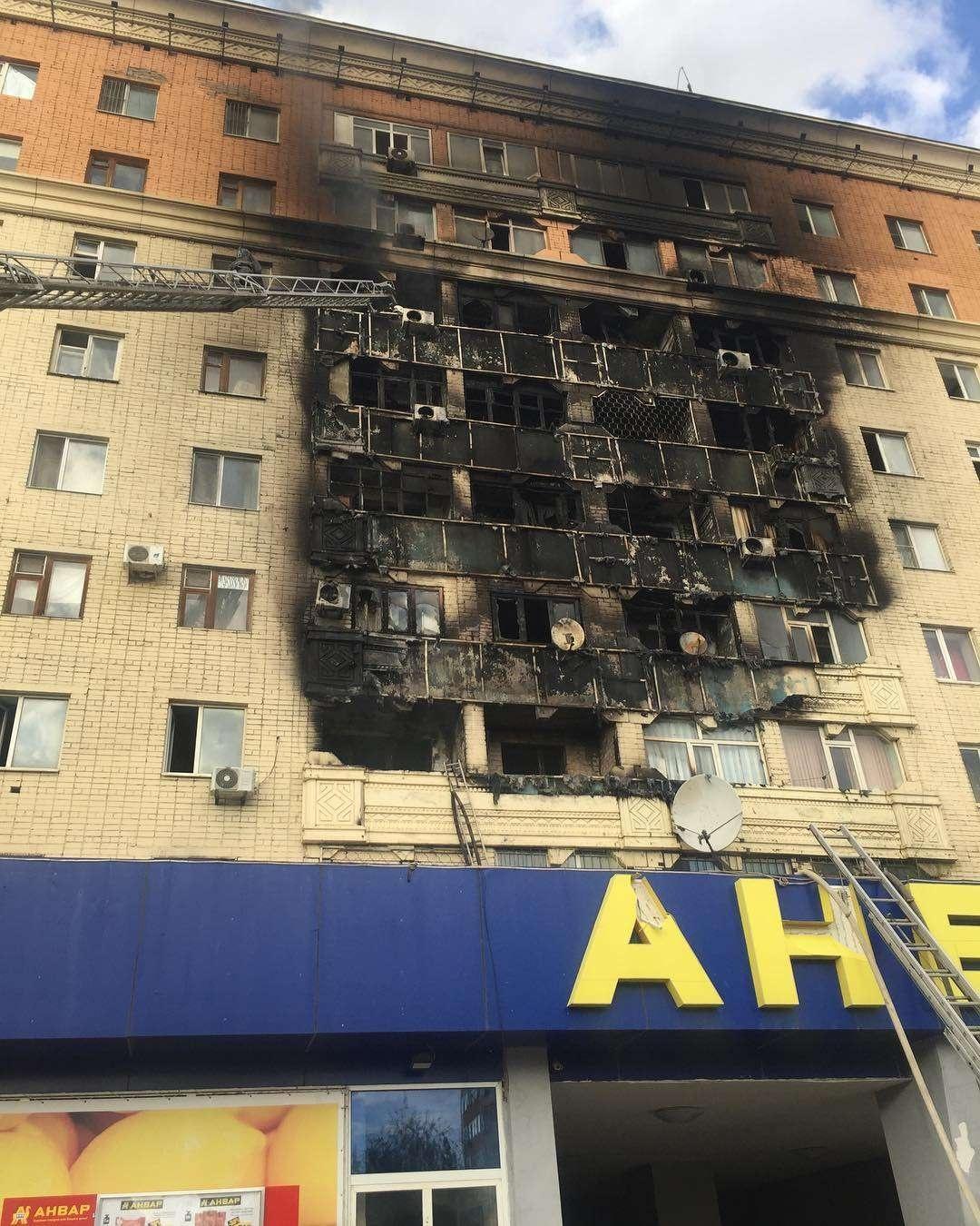 Пожар в многоэтажке Актобе. Так было 4 октября