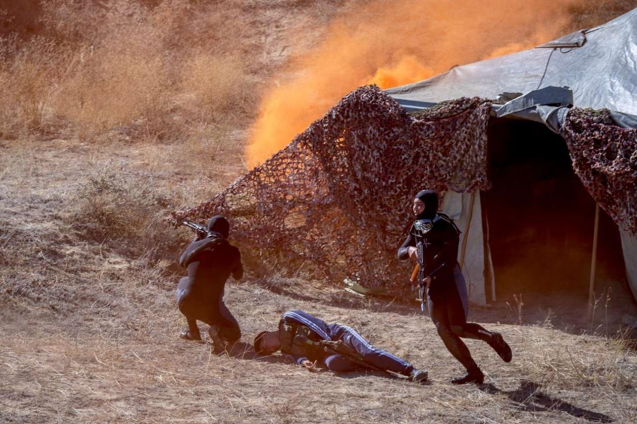 Зачистка лагеря боевиков