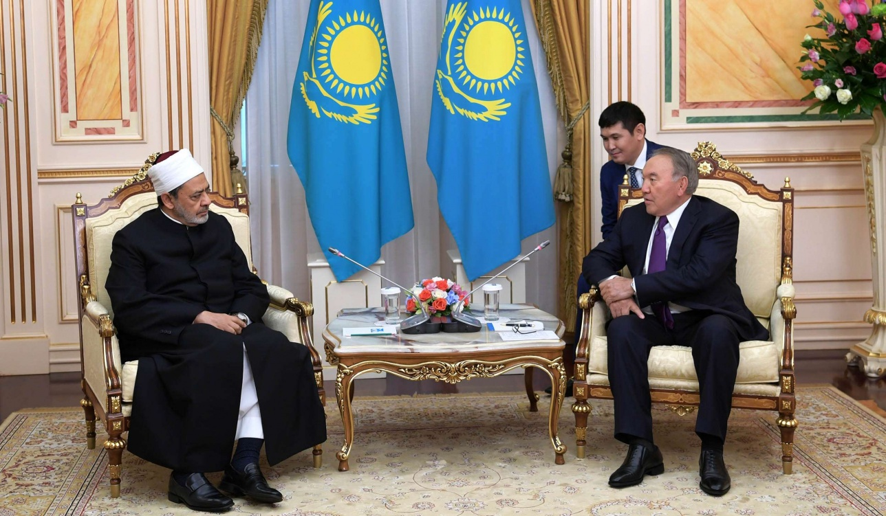 Нурсултан Назарбаев встретился с Верховным имамом Аль-Азхара Шейхом Ахмадом ат-Тайебом