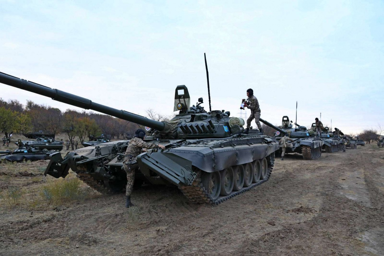 Одна из частей Шымкентского гарнизона была поднята по тревоге