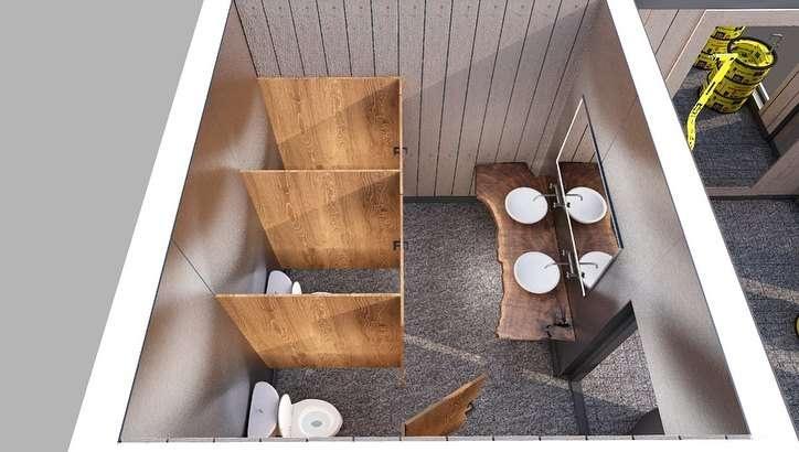 Эскиз нового туалета на Шымбулаке