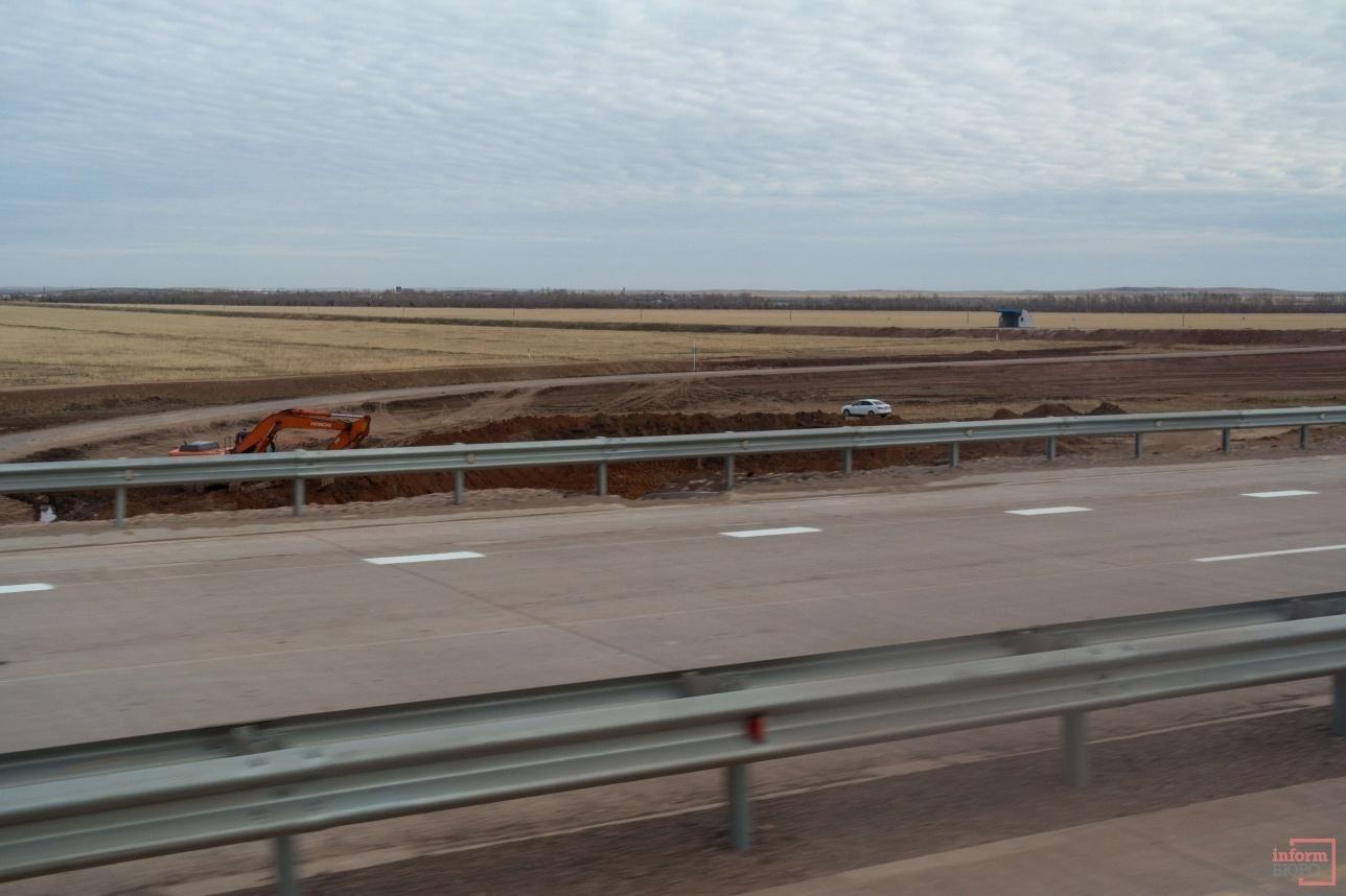 Строительство развязки на дороге Астана – Павлодар