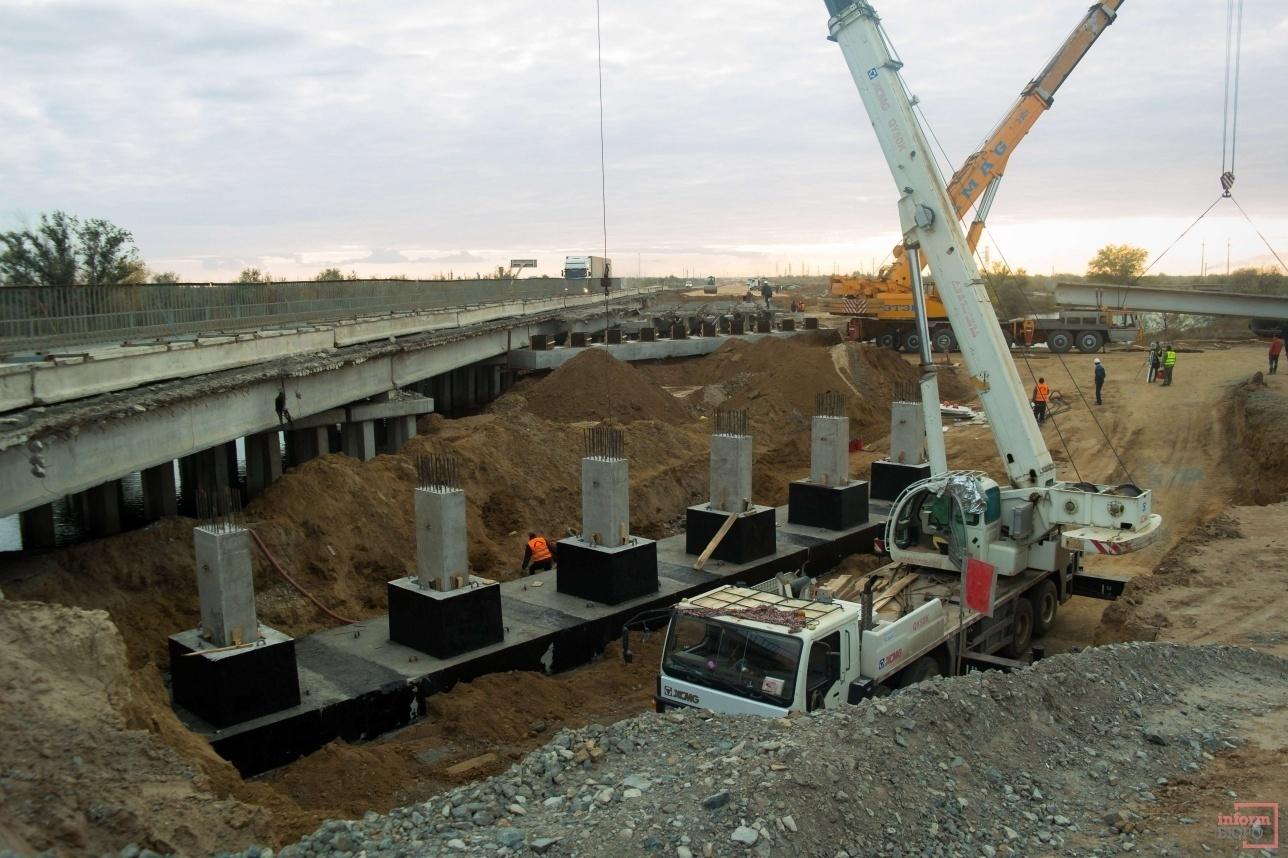 Реконструкция моста через канал имени Каныша Сатпаева