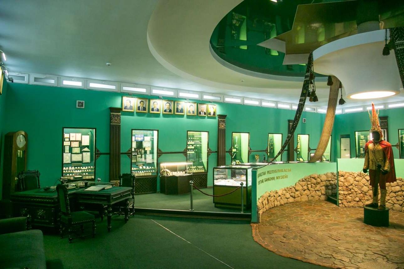 Музей тенге в одном из отделений Нацбанка в Алматы