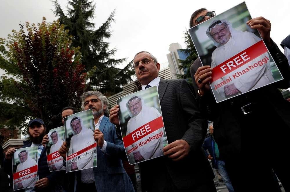 Со дня исчезновения Джемаля Хашукджи активисты и коллеги журналиста собирались у генконсульства Саудовской Аравии в Стамбуле