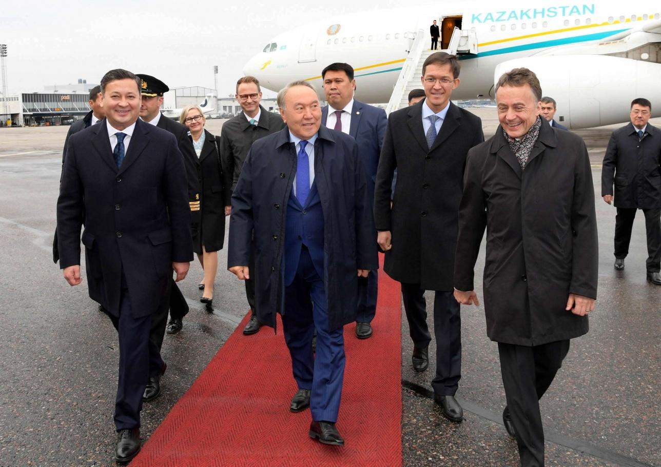 Нурсултан Назарбаев прибыл с рабочим визитом в Финляндию