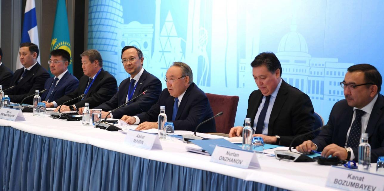 Встреча Нурсултана Назарбаева с представителями бизнеса Финляндии