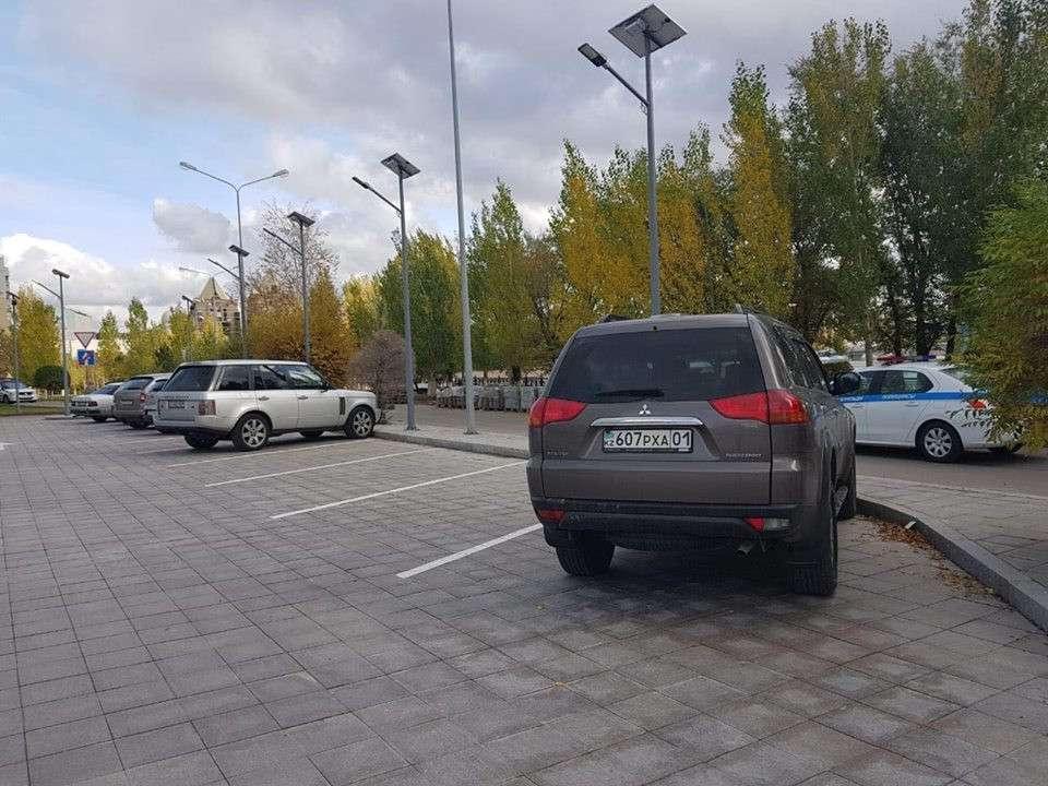 Новая бесплатная парковка в Астане