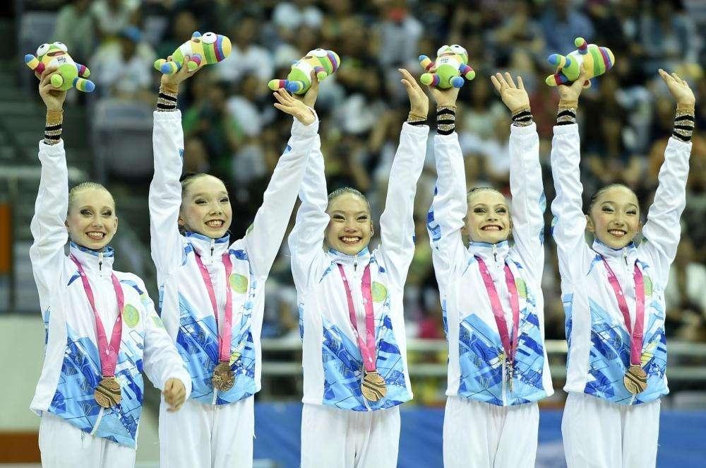 Казахстанские гимнастки