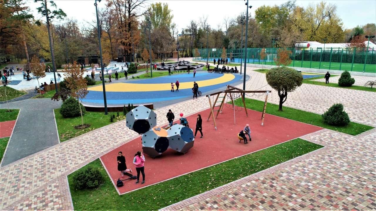 Спортивные и детски площадки появились в обновлённом Центральном парке