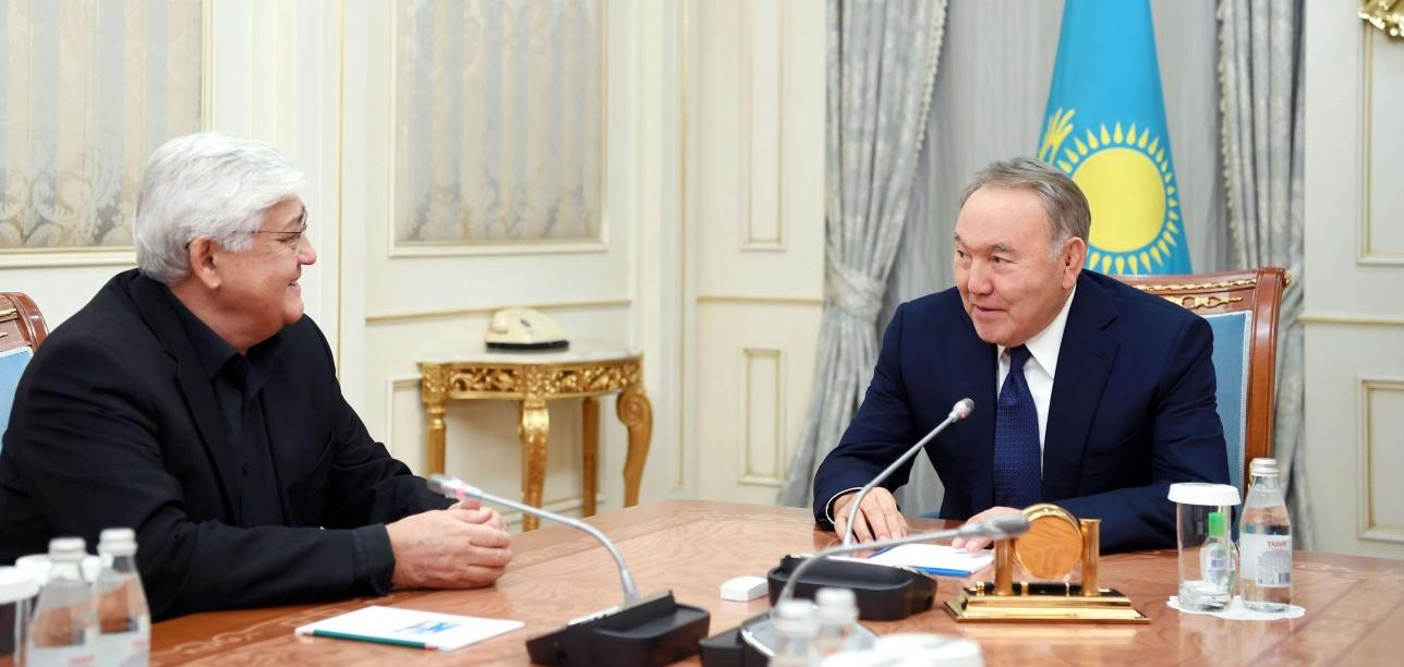 Нурсултан Назарбаев встретился с Алибеком Днишевым