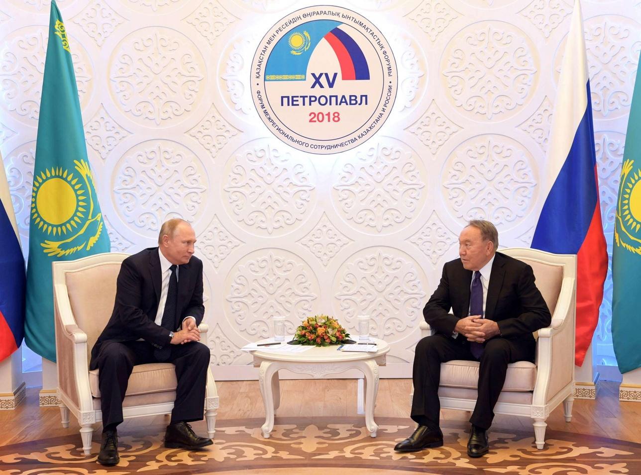 Нурсултан Назарбаев встретился в Владимиром Путиным