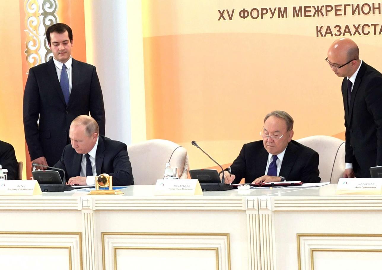 Президенты Казахстана и России подписали несколько важных документов