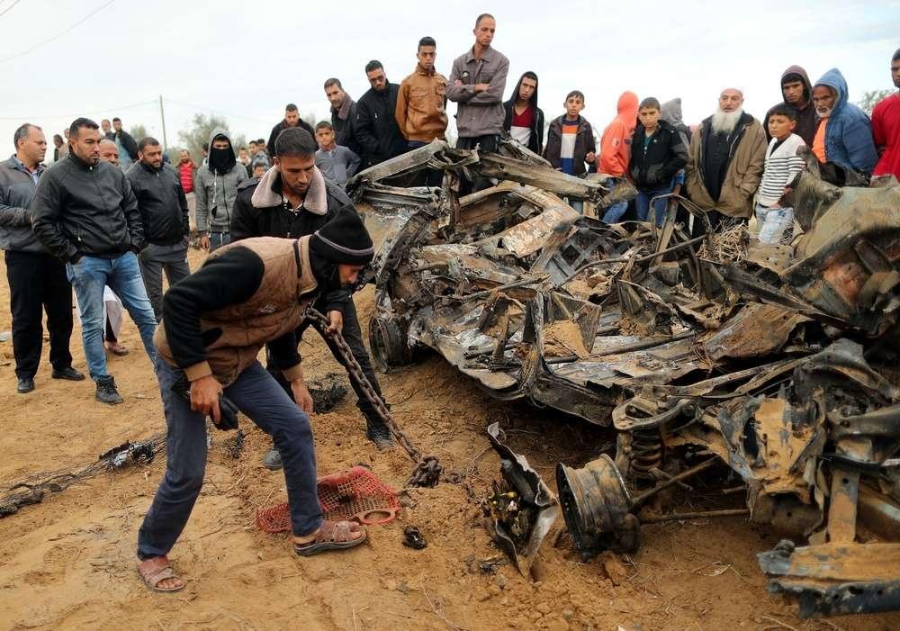 Автобус, по которому попала ракета, выпущенная из сектора Газа