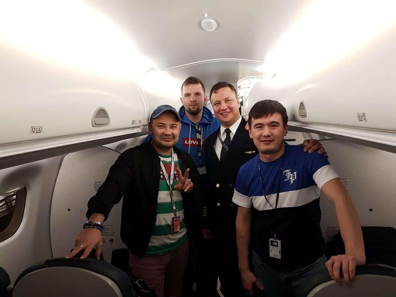 Снимок из салона самолёта сразу после приземления в Португалии