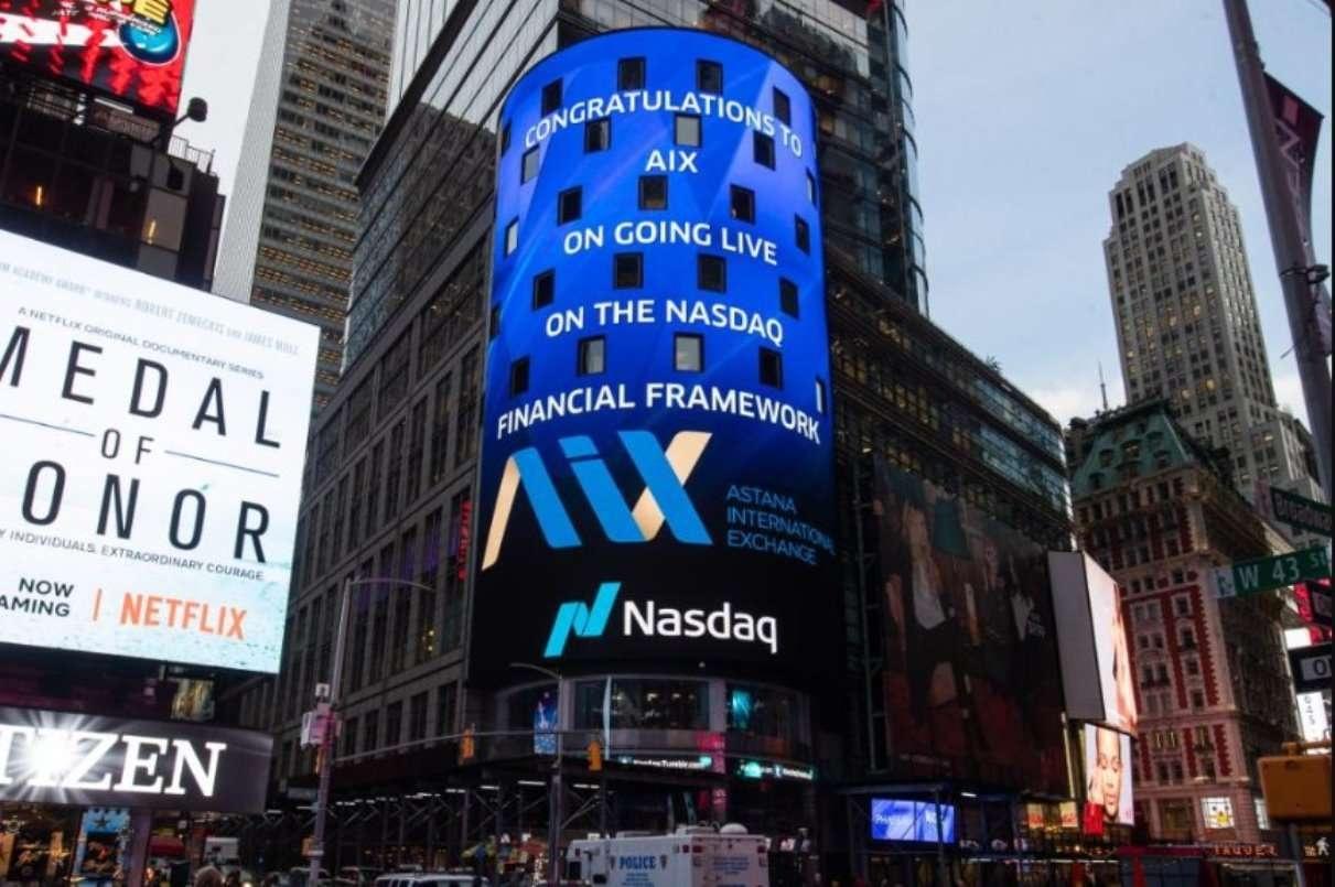 Биржу МФЦА поздравили с началом торгов на Таймс-сквер