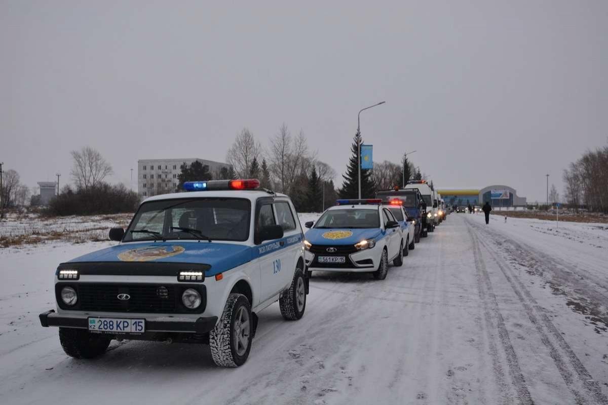 В Петропавловске по улицам прошла колонна из 70 машин