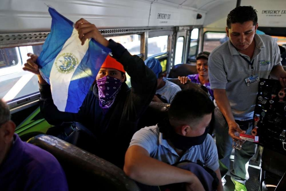 Мигранты из Сальвадора отправляются на границу США