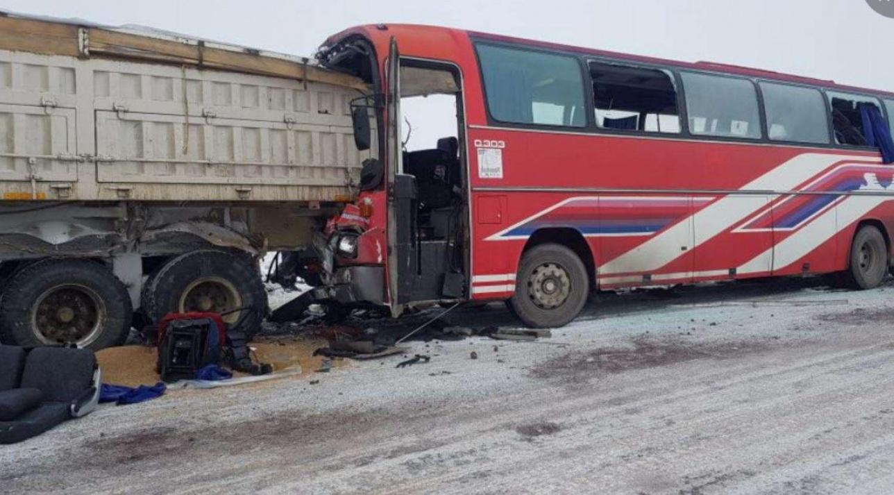 ДТП с автобусом в Карагандинской области