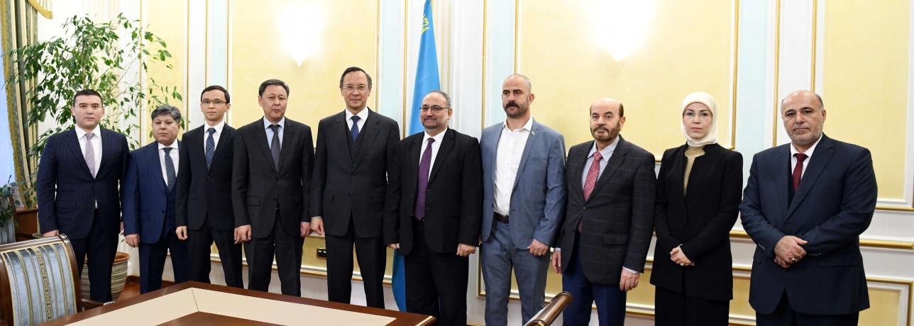Встреча министра Кайрата Абдрахманова с представителями вооруженной оппозиции Сирии