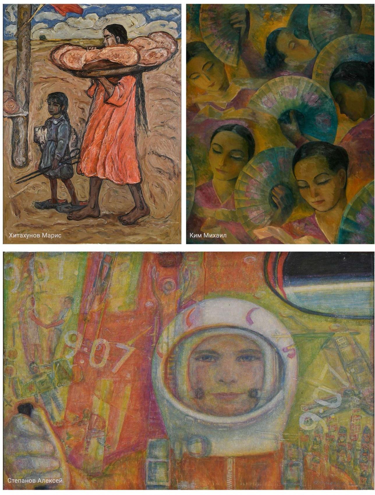 На выставке представлены работы 57 художников из Казахстана