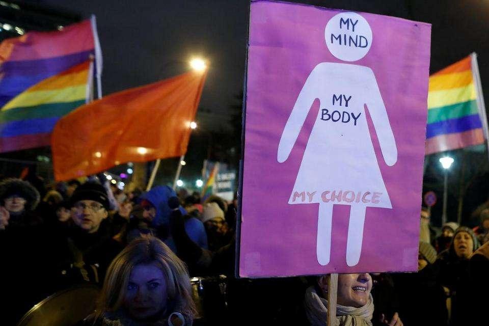Марш в поддержу абортов в Польше