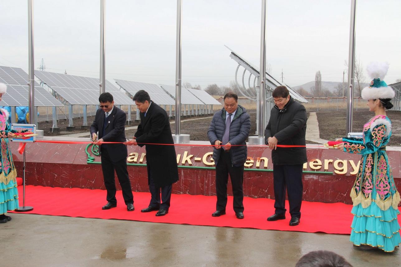 Торжественное открытие СЭС в Алматы