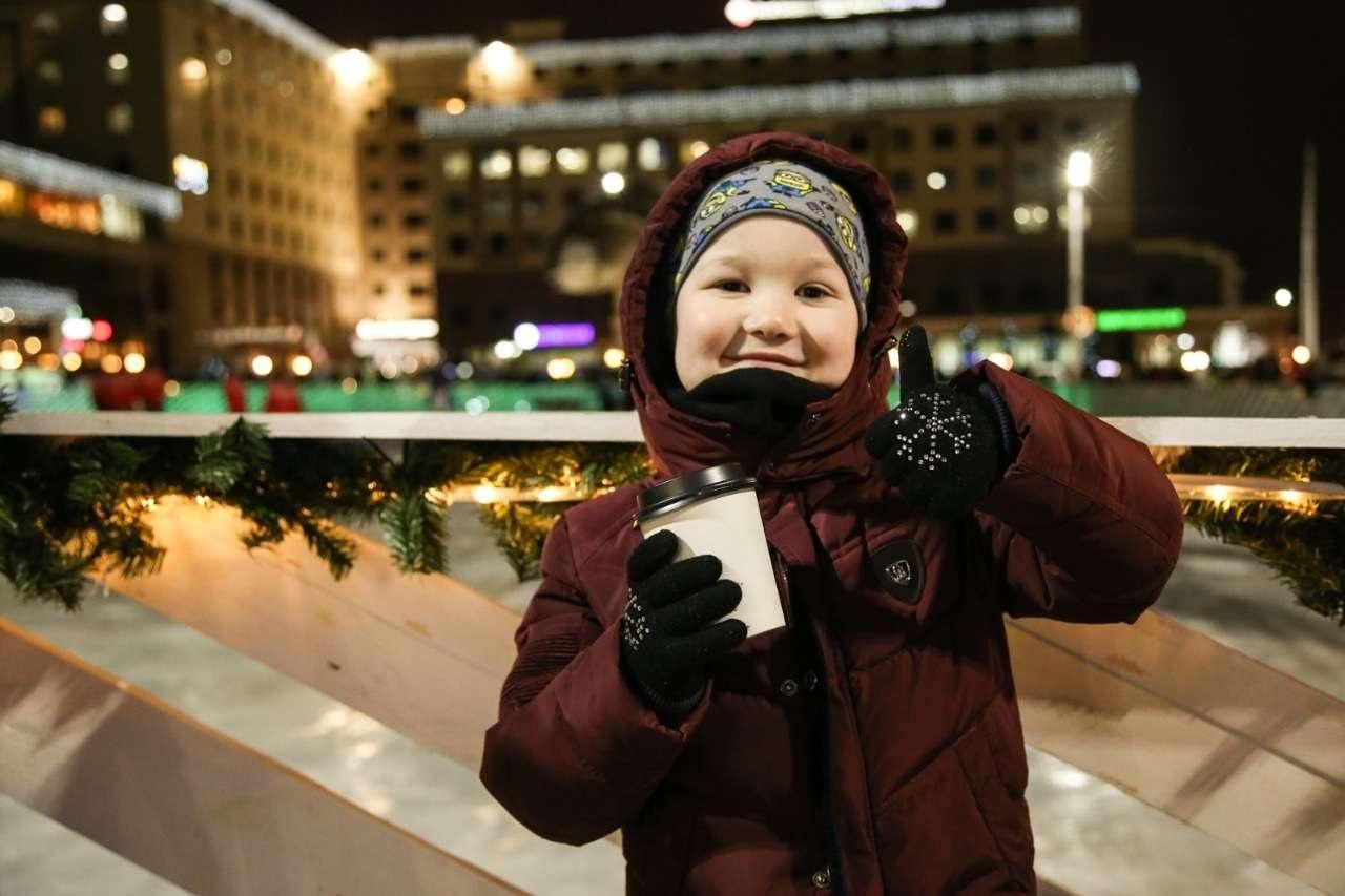 Открытие ледового катка в Алматы