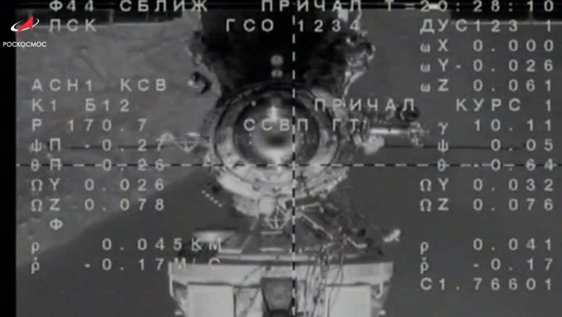 Стыковку космического корабля с МКС транслировали онлайн