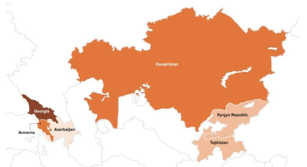 Индекс свободы человека. Центральная Азия