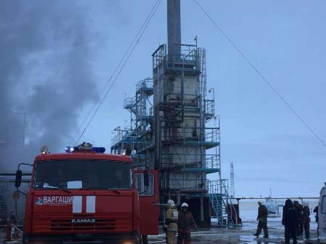 В Жамбылской области на газоперерабатывающем заводе произошёл пожар