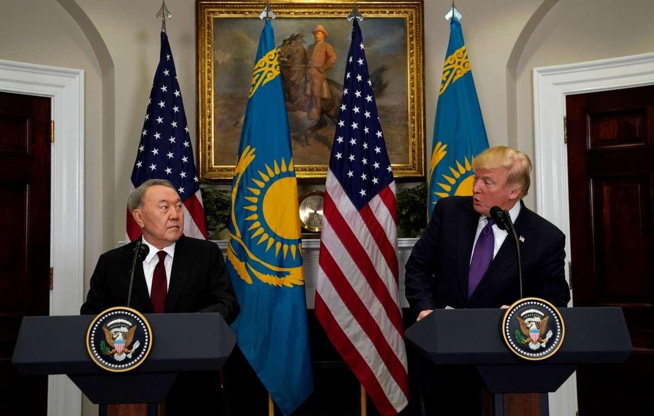 Брифинг по итогам переговоров Нурсултана Назарбаева и Дональда Трампа