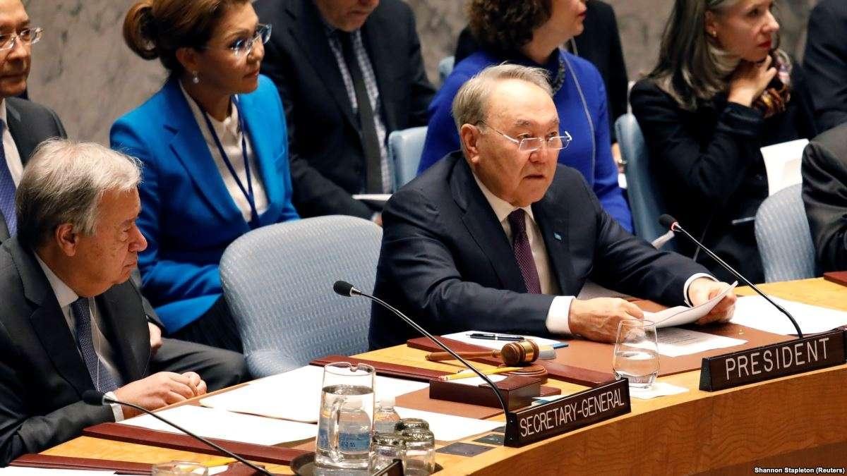 Нурсултан Назарбаев выступил на брифинге Совета безопасности ООН