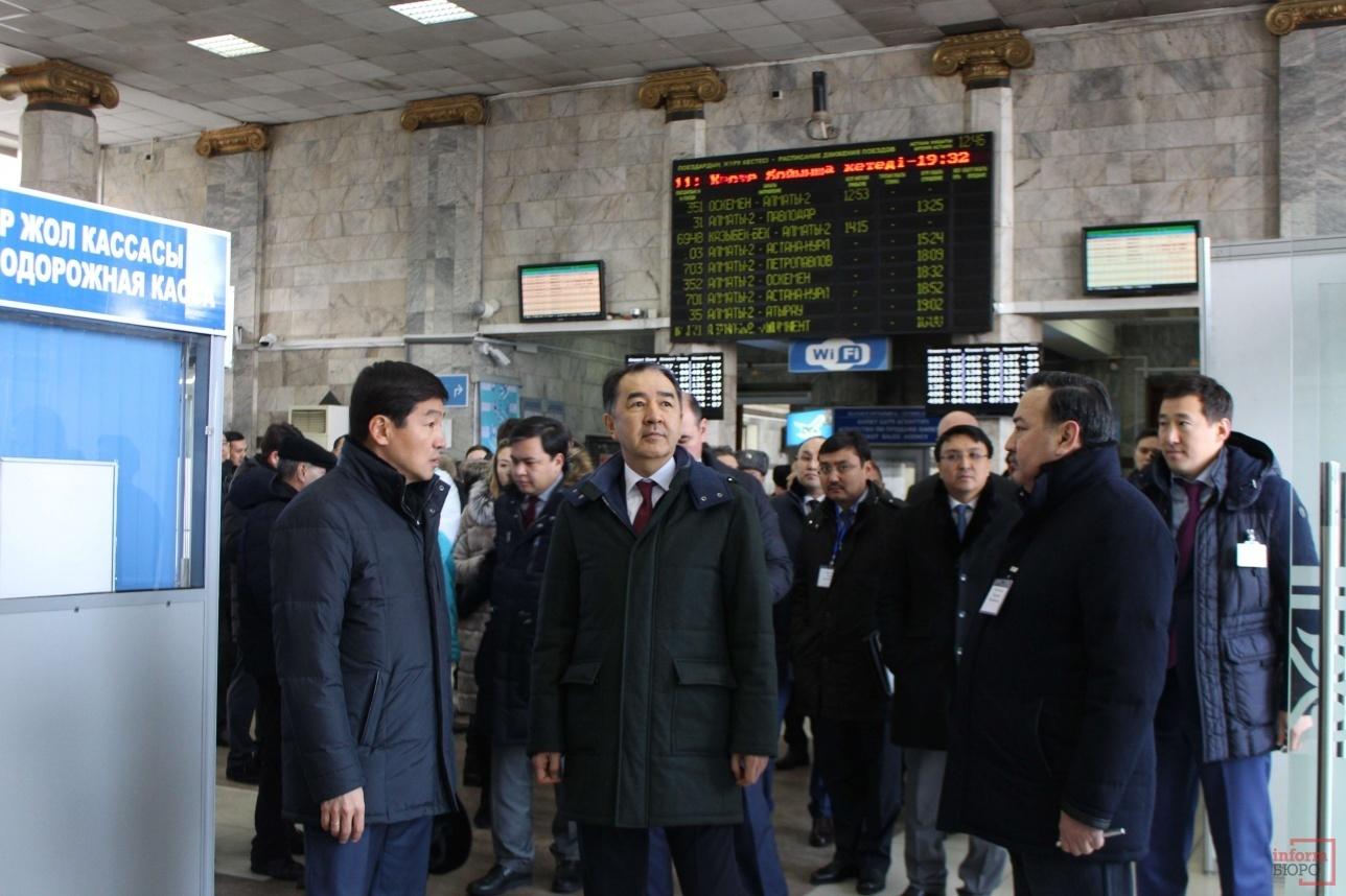 """Бауыржан Байбек Бакытжану Сагинтаеву показал вокзал """"Алматы-2"""""""