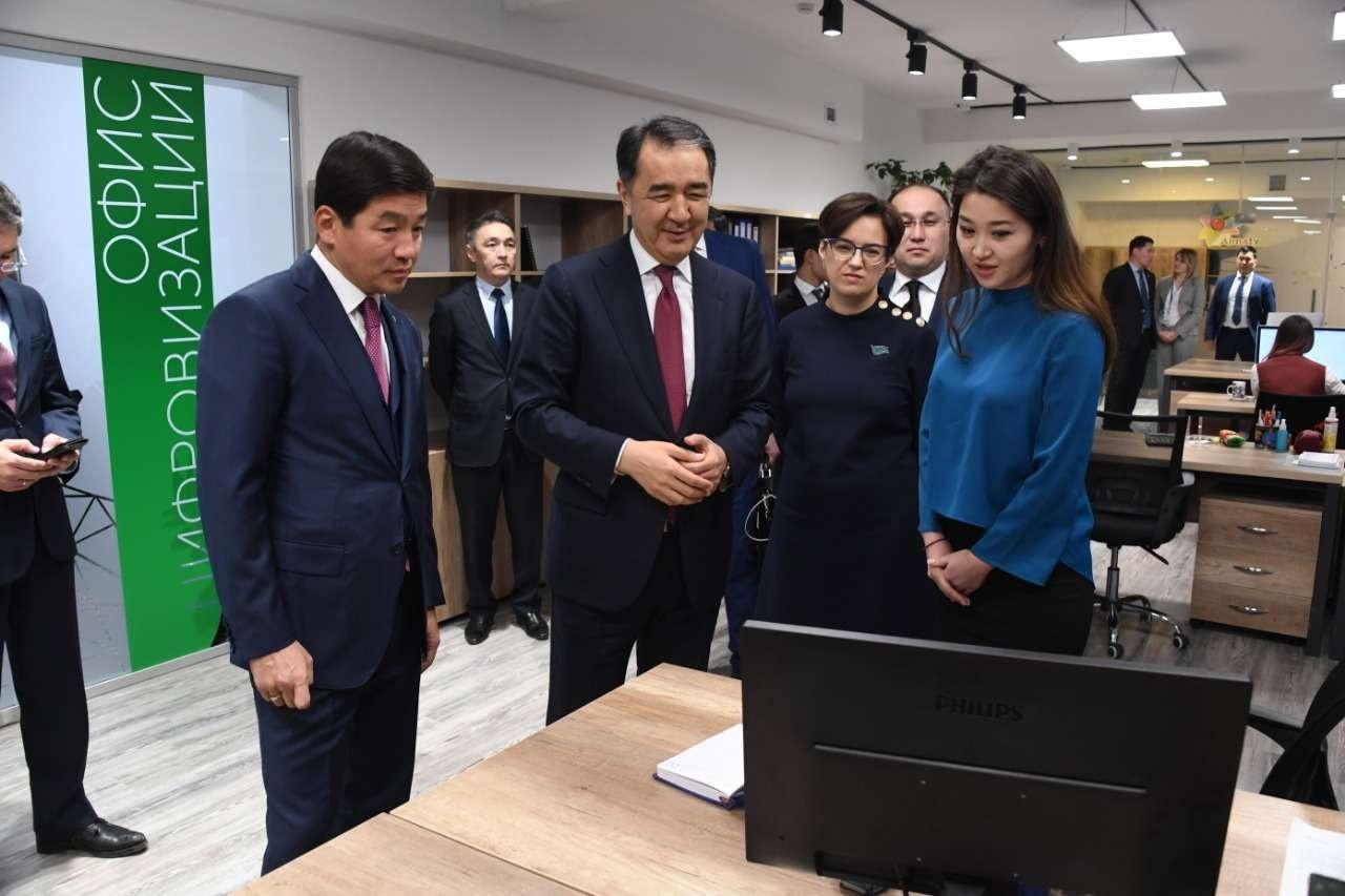 """Бакытжан Сагинтаев посетил """"АлматыБасЖоспар"""""""