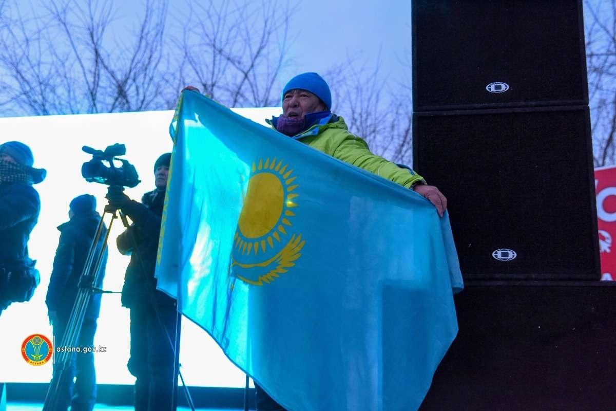 """Девиз Astana Winter Marathon - """"За пределами возможного""""."""