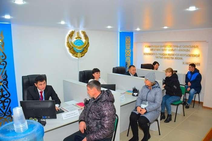 Пока казахстанская полиция открывает свои фронт-офисы в приспособленных помещениях