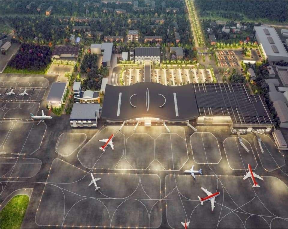 Эскиз нового терминала аэропорта в Алматы