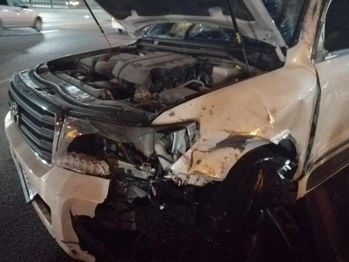 Автомобиль в аварии врезался несколько раз