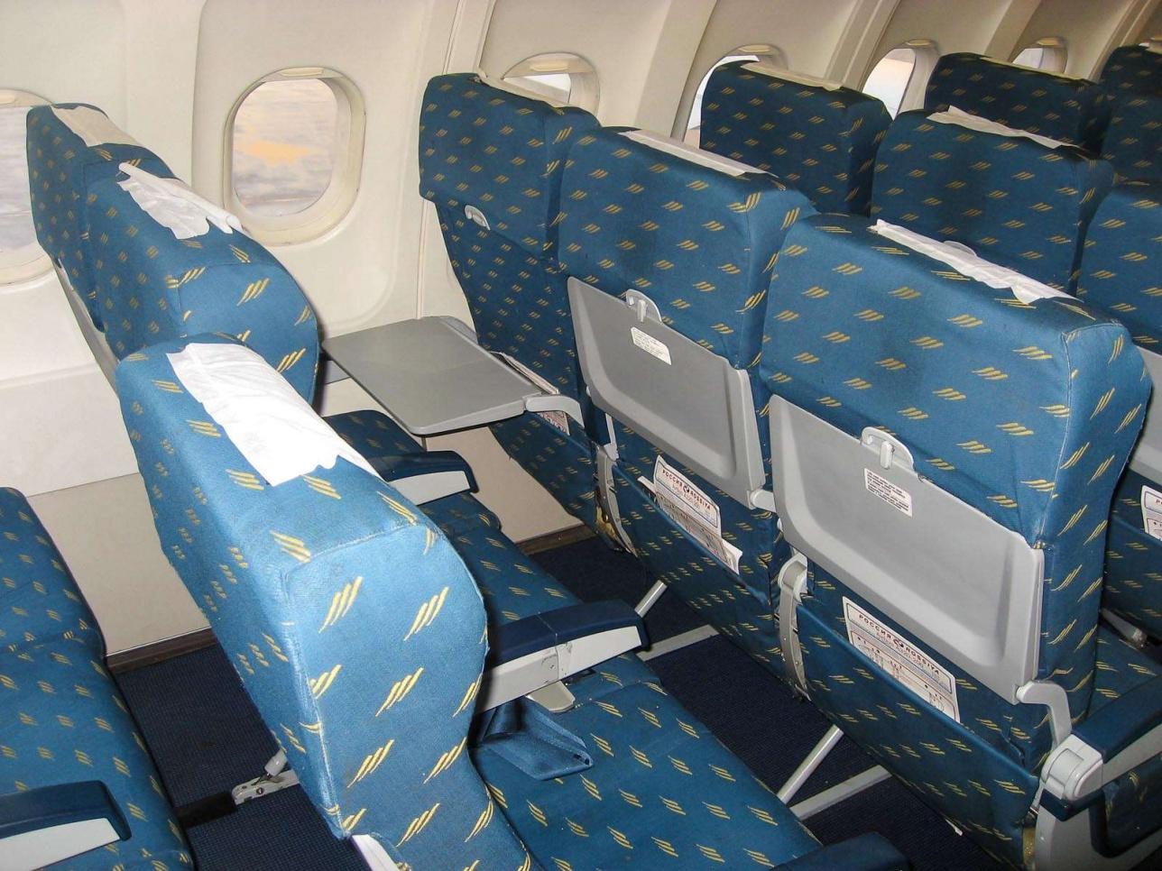 Примерно такая плотность рядов кресел ожидается при уплотнении салона Airbis A320