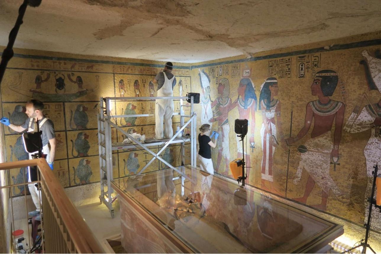 Команда реставраторов работала в гробнице 10 лет
