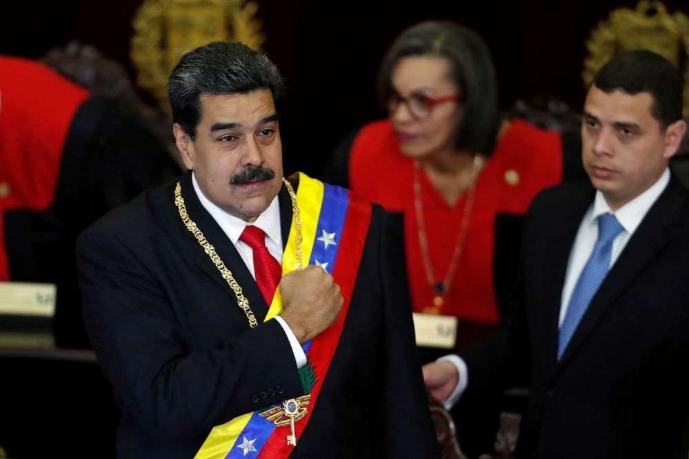 Президент Венесуэлы Николас Мадуро во время выступления в верховном суде
